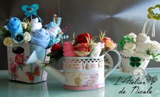 Aranjamente florale unicat din hainute pentru bebelusi – interviu L'Atelier de Nicole